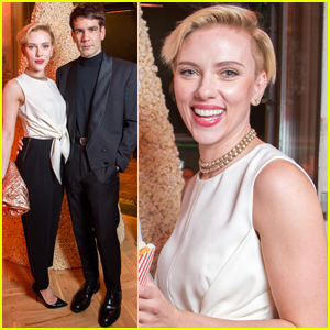 Scarlett Johansson & Husband Romain Dauriac Celebrate 'Yummy Pop' Grand Opening