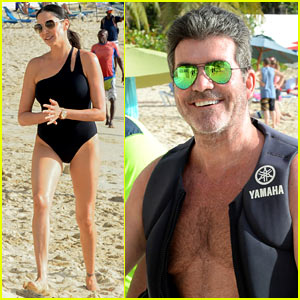 Shirtless Simon Cowell Soaks Up the Sun in Barbados
