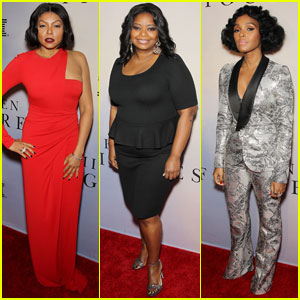Taraji P. Henson & Octavia Spencer Screen 'Hidden Figures' in NYC With Janelle Monae