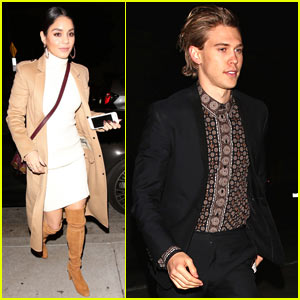 Awesome Vanessa Hudgens Austin Butler Step Out For Date Night Austin Hairstyles For Men Maxibearus