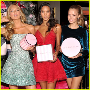 Victoria's Secret Models Bring Holiday Magic to NYC Store Opening!