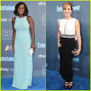 Viola Davis & Felicity Huffman Look Super Sophisticated at Critics' Choice Awards 2016