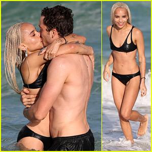 Zoe Kravitz & Boyfriend Karl Glusman Flaunt Tons of Beach PDA!