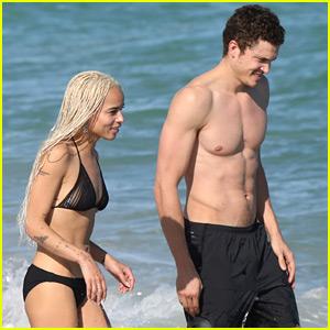 Zoe Kravitz & Karl Glusman Hit the Beach on Christmas Eve!