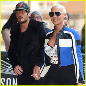 VIDEO: Amber Rose & Val Chmerkovskiy Caught on Kiss Cam at Knicks Game!