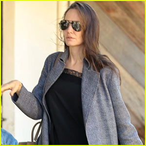 Angelina Jolie Makes Rare Outing in Malibu