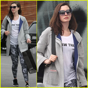 Anne Hathaway Goes Shopping in WeHo