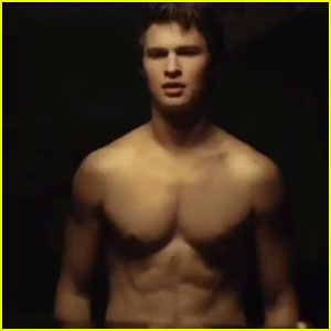 Ansel Elgort Strips Shirtless for Steamy 'Thief' Video Preview with Girlfriend Violetta Komyshan - Watch Now!