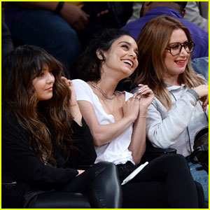 Vanessa Hudgens & Ashley Tisdale Sit Court Side for Lakers!