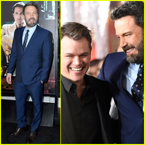 Ben Affleck Gets Support From Matt Damon at 'Live By Night' Premiere