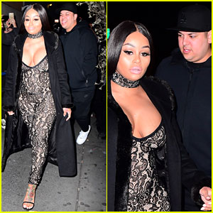 Blac Chyna & Rob Kardashian Hit the Club in NYC