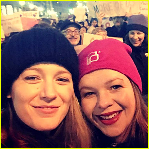 Blake Lively Reunites with 'Sisterhood' at Women's March, Explains Why She Participated