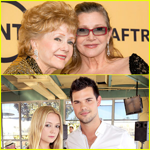 Carrie Fisher & Debbie Reynolds Laid to Rest, Billie Lourd Gets Support from Taylor Lautner at Burial