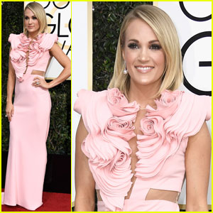 Carrie Underwood is Pretty in Pink at Golden Globes 2017