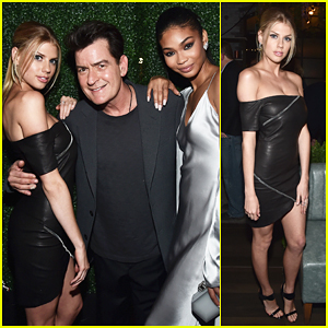 Charlotte McKinney & Chanel Iman Celebrate 'Mad Families' Premiere With Charlie Sheen - Watch Trailer!