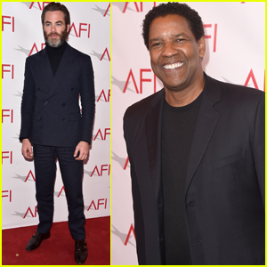 Chris Pine & Denzel Washington Step Out at AFI Awards Luncheon
