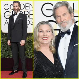 Chris Pine & Jeff Bridges Step Out at the Golden Globes 2017