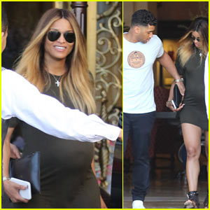 Ciara Shows Off Her Major Baby Bump at Breakfast with Russell Wilson