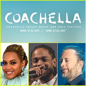 Coachella 2017 Lineup Announced: Beyonce, Kendrick Lamar, Radiohead & More!