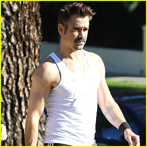 Colin Farrell Shows Off His Buff Biceps in Los Angeles!