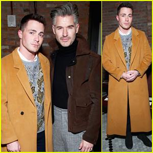 Colton Haynes Kicks Off 2017 Men's New York Fashion Week!