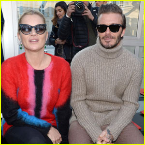 David Beckham Sits Front Row With Kate Moss at Louis Vuitton Fashion Show in Paris