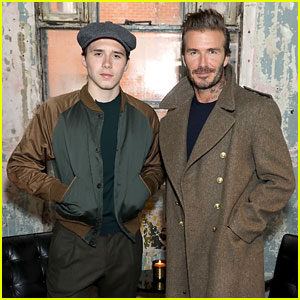 David & Brooklyn Beckham Hit Up London Fashion Week For Kent & Curwen Presentation