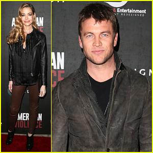 Denise Richards Got Support From Westworld's Luke Hemsworth At 'American Violence' Premeire - Watch Trailer!