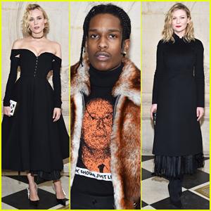 Diane Kruger & Kirsten Dunst Put On Their Best For Dior Fashon Show!