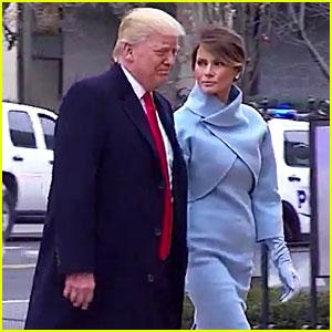 VIDEO: Donald & Melania Trump Emerge on Inauguration Day