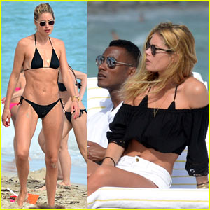 Doutzen Kroes Hits the Beach with Her Family in Miami