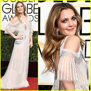Drew Barrymore Gets Glam for Golden Globes - See Her Selfies!