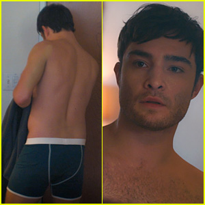 Ed Westwick Answers the Door in Just His Underwear in New 'The Crash' Clip (Exclusive)