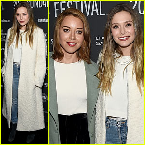 Elizabeth Olsen & Aubrey Plaza Premiere 'Ingrid Goes West' at Sundance Film Festival