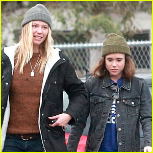 Ellen Page & Girlfriend Samantha Thomas Take their Dog for a Walk