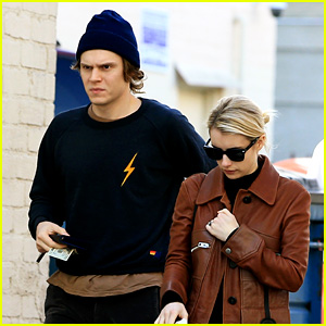 Emma Roberts & Evan Peters Step Out for a Lunch Date!