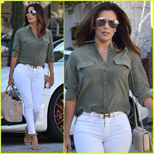 Eva Longoria Enjoys An Afternoon of Pampering