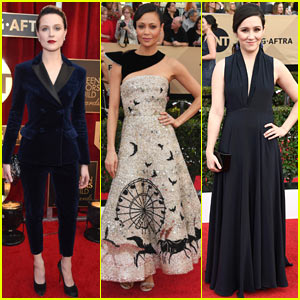Evan Rachel Wood & Thandie Newton Bring 'Westworld' to SAG Awards 2017