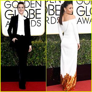 Evan Rachel Wood Wears Suit to Golden Globes 2017, Says Dresses 'Aren't A Requirement' For Women