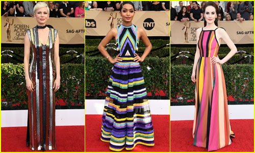 SAG Awards 2017 Fashion Roundup: Stripes & Patterns Rule the Red Carpet