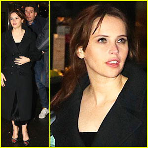 Felicity Jones & Boyfriend Charles Guard Head to 'SNL' After Party!