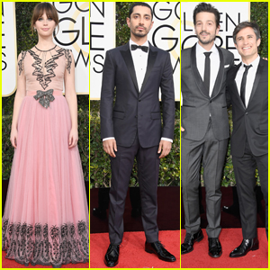 Felicity Jones, Riz Ahmed & Diego Luna Bring 'Rogue One' to the Golden Globes 2017