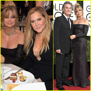 Goldie Hawn Sits with 'Snatched' Daughter Amy Schumer at Golden Globes 2017