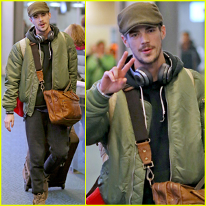 Grant Gustin Gets Back to Work After Spending the Holidays in NYC
