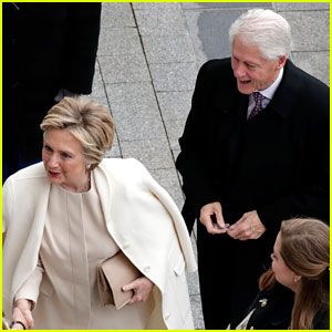 VIDEO: Hillary & Bill Clinton Arrive for Trump's Inauguration