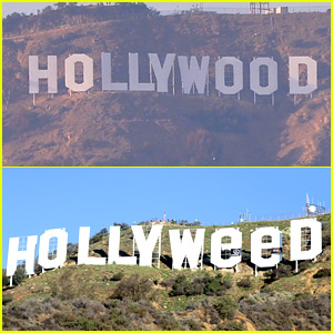 Someone Turned the Hollywood Sign Into the 'Hollyweed' Sign