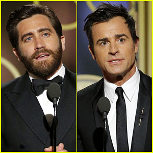 Justin Theroux & Jake Gyllenhaal Present at Golden Globes 2017