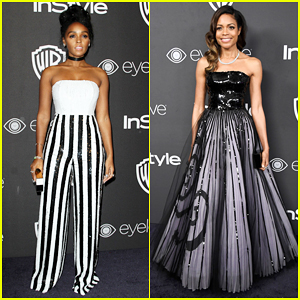 Janelle Monae & Naomie Harris Switch It Up At Golden Globes 2017 Party After Big 'Moonlight' Win!