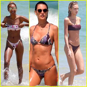 Jasmine Tookes, Alessandra Ambrosio, & Romee Strijd Enjoy Some Fun in the Sun!