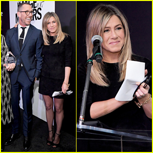 Jennifer Aniston Honors Hairstylist Chris McMillan At Marie Claire's Image Maker Awards!